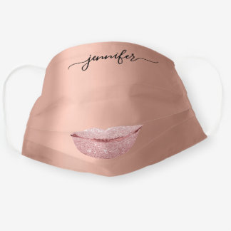 Name Lips Rose Kiss Glam Blush Drips Makeup Artist Cloth Face Mask