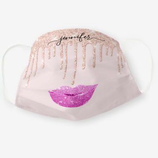 Name  Lips Rose Pinky Blush Drips Makeup Artist Cloth Face Mask