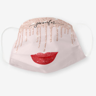 Name  Lips Rose Red  Blush Drips Makeup Artist Cloth Face Mask