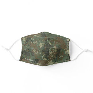 Name | Modern Forest Green Camouflage Pattern Adult Cloth Face Mask