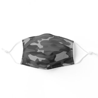 Name | Modern Gray Camouflage Pattern Camo your Adult Cloth Face Mask