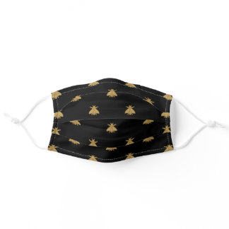 Napoleonic Bee on Black Adult Cloth Face Mask
