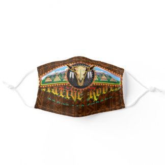 Native Roots American brown bandana art Adult Cloth Face Mask