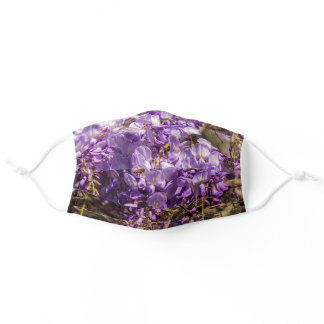 Nature Wisteria Purple Flower Photo Adult Cloth Face Mask