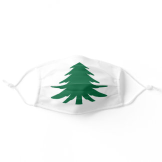 Naval and Maritime Flag of Massachusetts Adult Cloth Face Mask