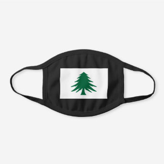 Naval and Maritime Flag of Massachusetts Black Cotton Face Mask