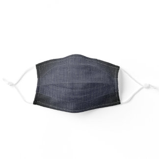 Navy Blue COVID-19 Simple Urban Textured Adult Cloth Face Mask