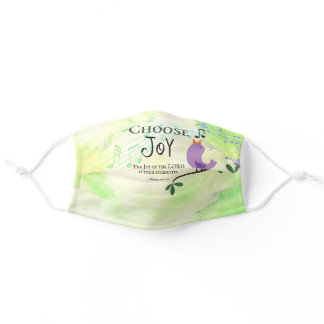 Nehemiah 8:10 Joy of the Lord is Your Strength Adult Cloth Face Mask