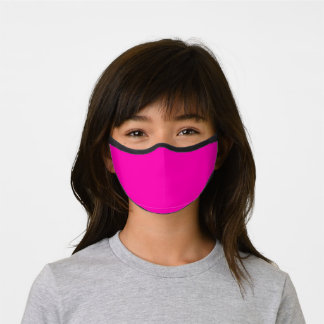 Neon Pink Solid Color Customize It COVID19 Kids Premium Face Mask