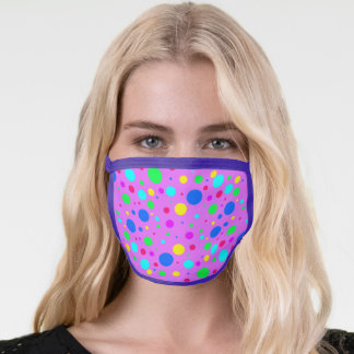 Neon Polka Dot Pattern Face Mask