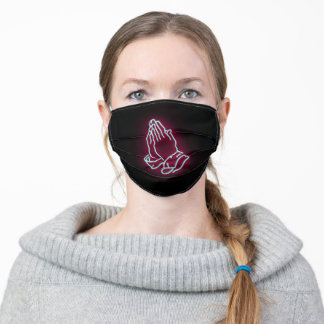 Neon Praying Hands | Adult Cloth Face Mask