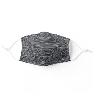 Neutral Black Gray Lines Adult Cloth Face Mask