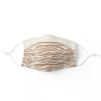 Neutral Brown Tiger Print Face Mask