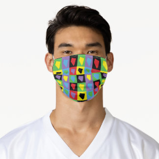 Nevada Colorful Pop Art Pattern Adult Cloth Face Mask