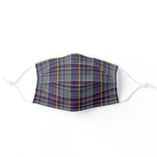 Nevada State Clan Tartan Plaid Pattern Adult Cloth Face Mask