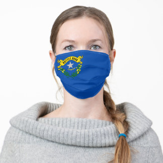 Nevada State Flag Adult Cloth Face Mask