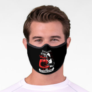 Never Underestimate Sewing Machine Sew Quilting Premium Face Mask