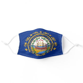 New Hampshire State Flag Adult Cloth Face Mask