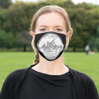 New Jersey State Quarter Adult Cloth Face Mask