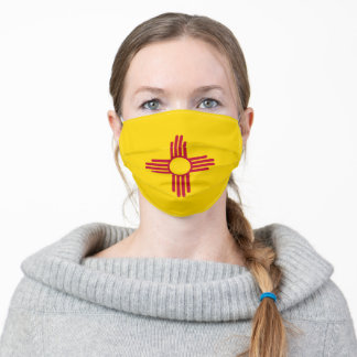 New Mexico Flag & America States, USA fashion Adult Cloth Face Mask