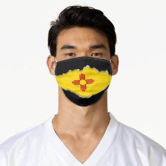 New Mexico Flag | Faux Torn Out Look Adult Cloth Adult Cloth Face Mask