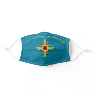New Mexico Turquoise Zia Sun Comfortable Adult Cloth Face Mask