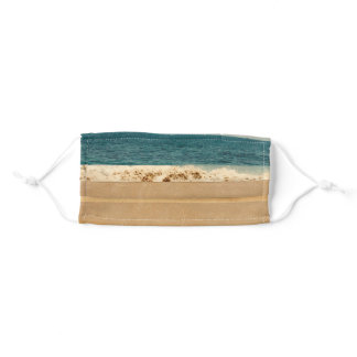 New Port Beach Waves Crashing On The Shore Adult Cloth Face Mask