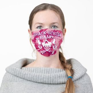 New Track Seven Band Pink Camo Logo Adult Cloth Face Mask