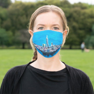 New York abstract skyline Adult Cloth Face Mask