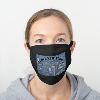 NEW YORK BLACK COTTON FACE MASK