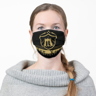 New York Brooklyn Black Gold Adult Cloth Face Mask