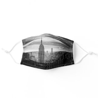 New York City Black White Cute New Yorker State Adult Cloth Face Mask