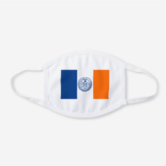 New York City Flag Unisex For Him Dad Son Hubby White Cotton Face Mask
