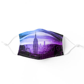 New York City Purple Cute New Yorker State Adult Cloth Face Mask