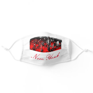 New York City Red White Adult Cloth Face Mask