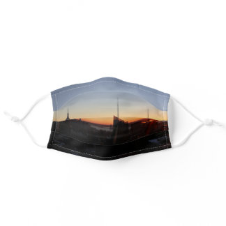 New York City Winter Sunset Photo Adult Cloth Face Mask