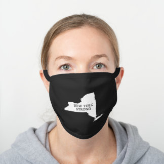 New York Strong Black Cotton Face Mask