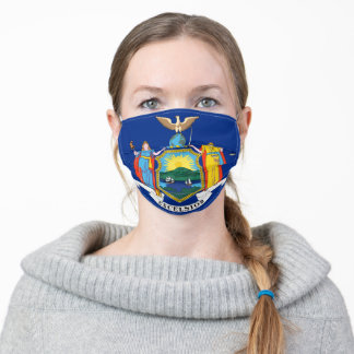 New York The Empire State Flag Coat of Arms Adult Cloth Face Mask