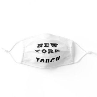 New York Tough Black and White Adult Cloth Face Mask