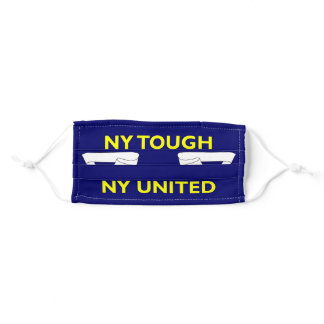 New York Tough NY United Excelsior Blue & Yellow Adult Cloth Face Mask