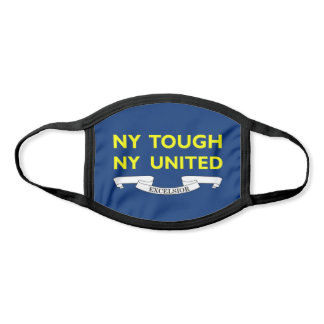 New York Tough NY United Excelsior Blue & Yellow Face Mask