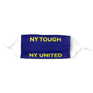 New York Tough NY United on Blue and Yellow Adult Cloth Face Mask