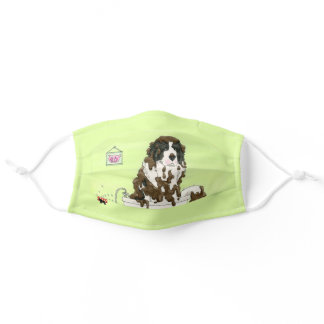 Newfy In The Bath Adult Cloth Face Mask