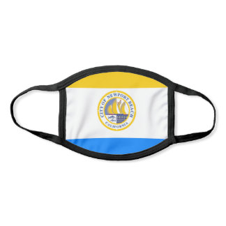 Newport Beach, California City Flag Face Mask