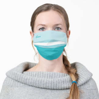 Nice Blue Color Striped Pattern (Sara) Adult Cloth Face Mask