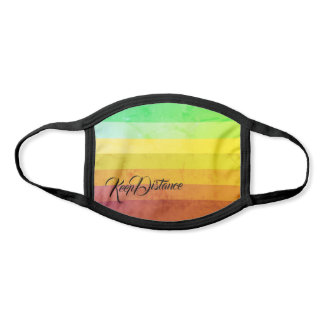 Nice Color Gradient Striped Pattern Keep Distance  Face Mask