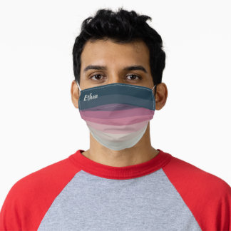 Nice Colorful Gradient Striped Pattern (Ethan) Adult Cloth Face Mask
