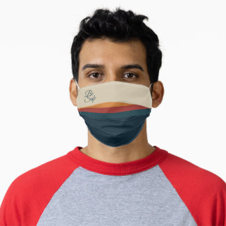 Nice Colorful Striped Pattern Be Safe Adult Cloth Face Mask