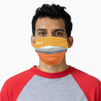 Nice Colorful Striped Pattern (Noah) Adult Cloth Face Mask