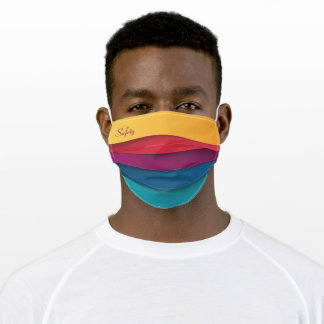 Nice Colorful Striped Pattern Safety Adult Cloth Face Mask